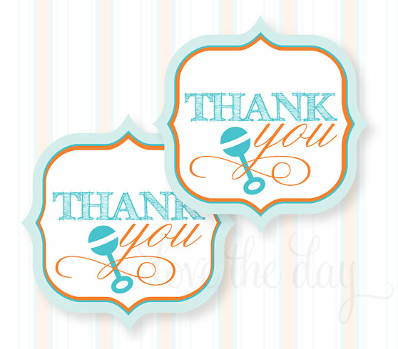 Baby shower inspiration and decorations savvy sassy moms printable thank you favor tags 500 negle Image collections