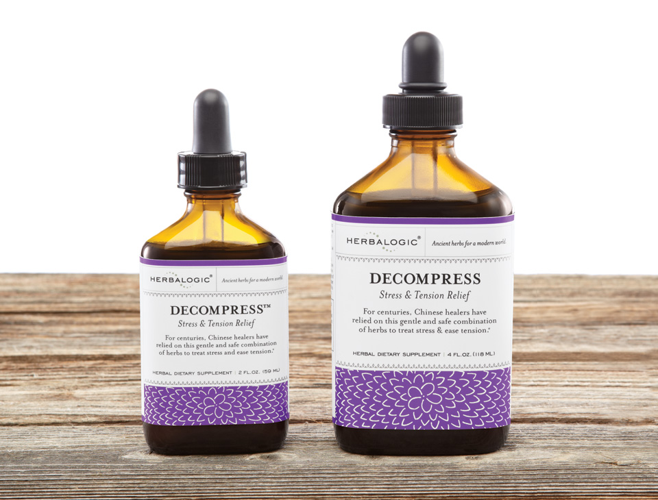 Decompress is an herbal tincture for stress and tension made in the USA using one of the foundation formulas of Chinese medicine.