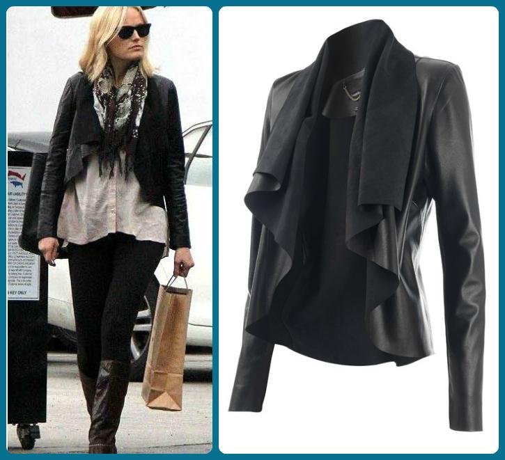 4f009274cc777 Look For Less! Malin Akerman Leather Jacket #FashionFriday - Savvy ...