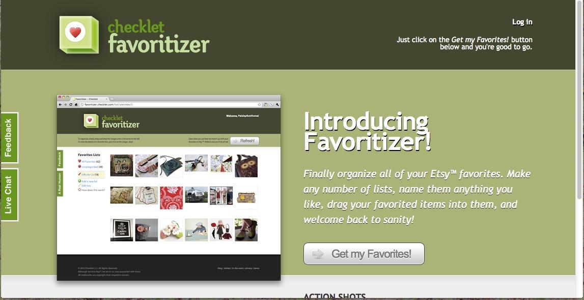 favoritizer homepage