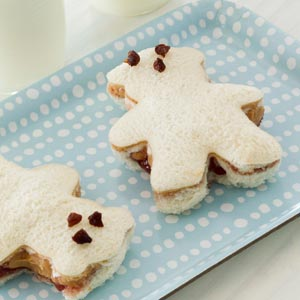 teddy bear tea sandwiches