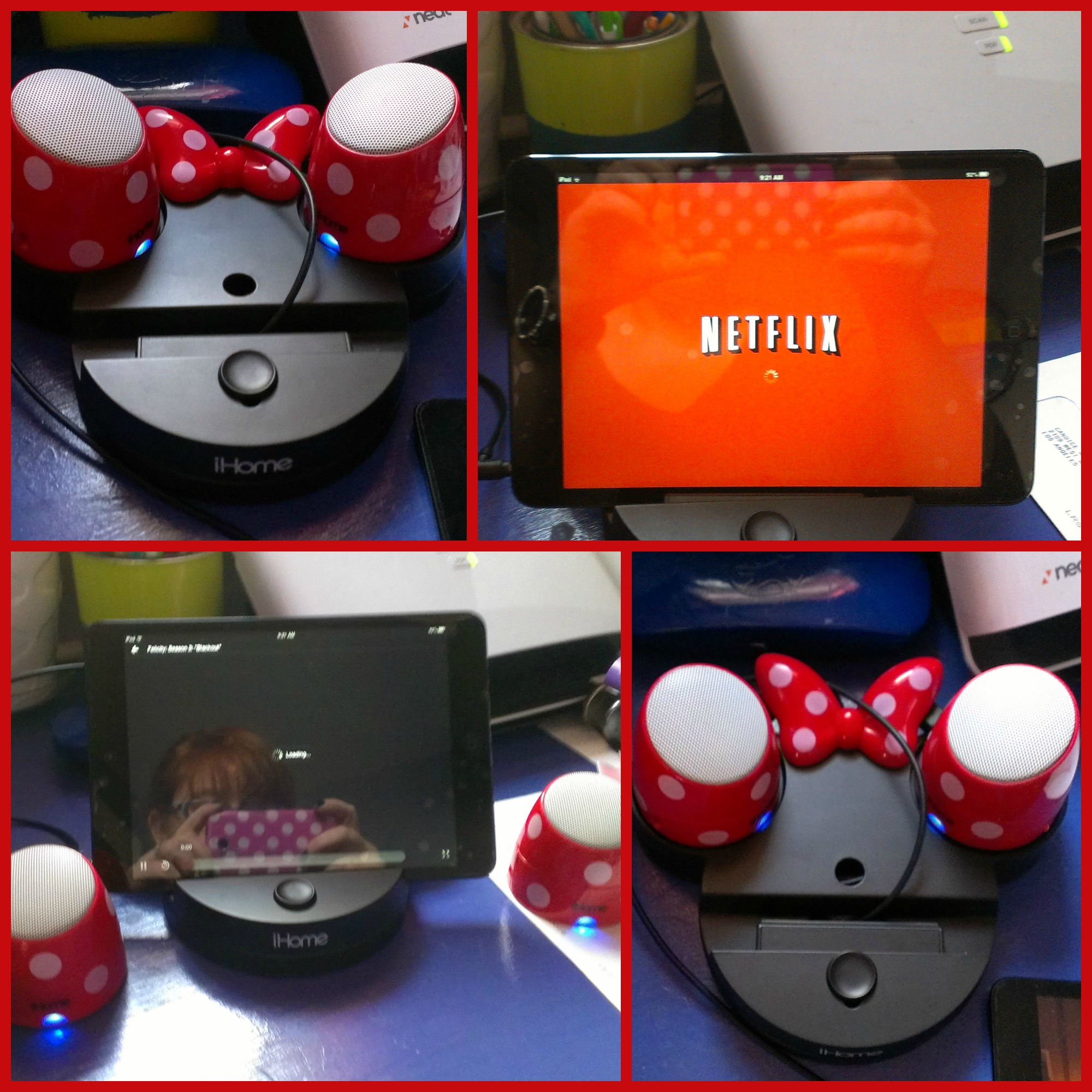 Minnie Mouse speakers Collage