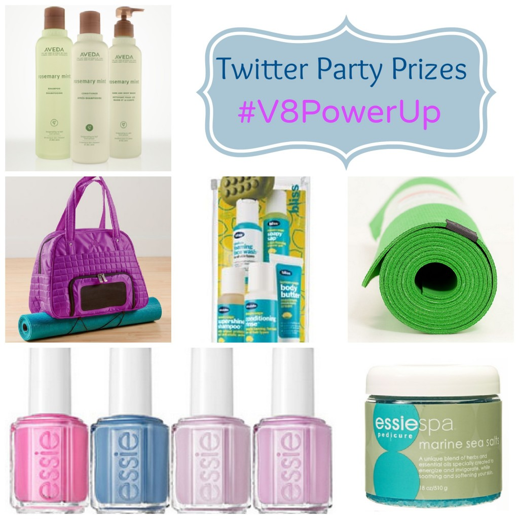 V8 Twitter Party Prizing  Collage