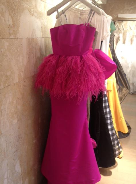 Sassy Pink Oscar de la Renta dress