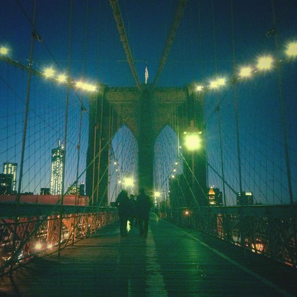 Wood Camera - Brooklyn Bridge at night square