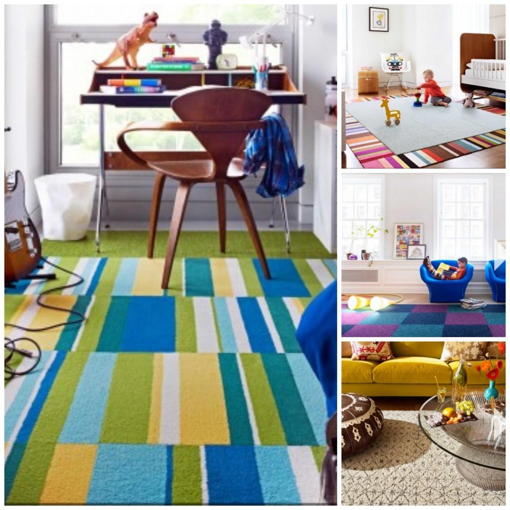Creating a custom rug with stylish FLOR carpet tiles - Savvy Sassy Moms
