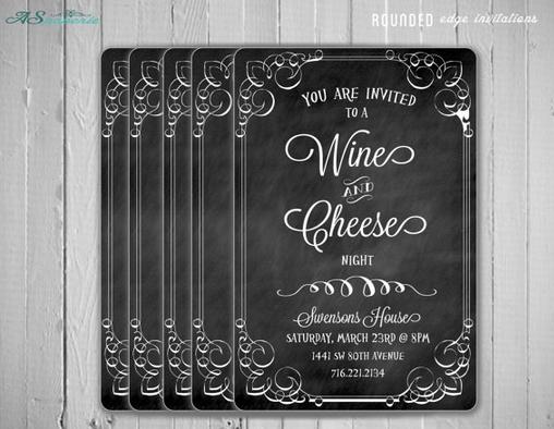 Wine & Cheese Invitations