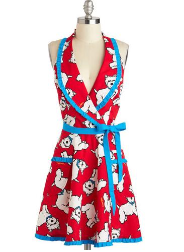 Cute Apron Westie Dogs Mod Cloth