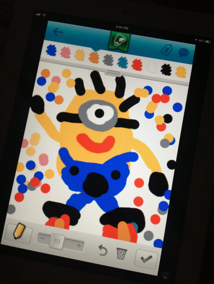 Draw Something 2 App Minion Drawing