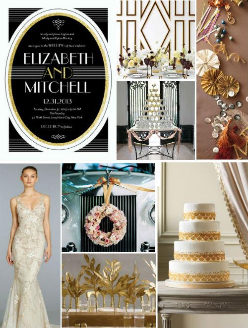 Gatsby - Inspiration Board - Credit Martha Stewart Weddings