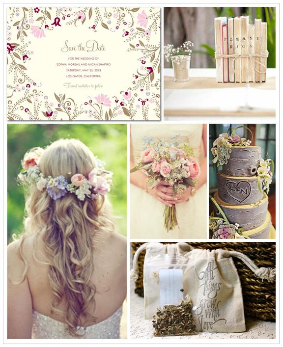 Nature - Inspiration Board - Credit Wedding Paper Divas