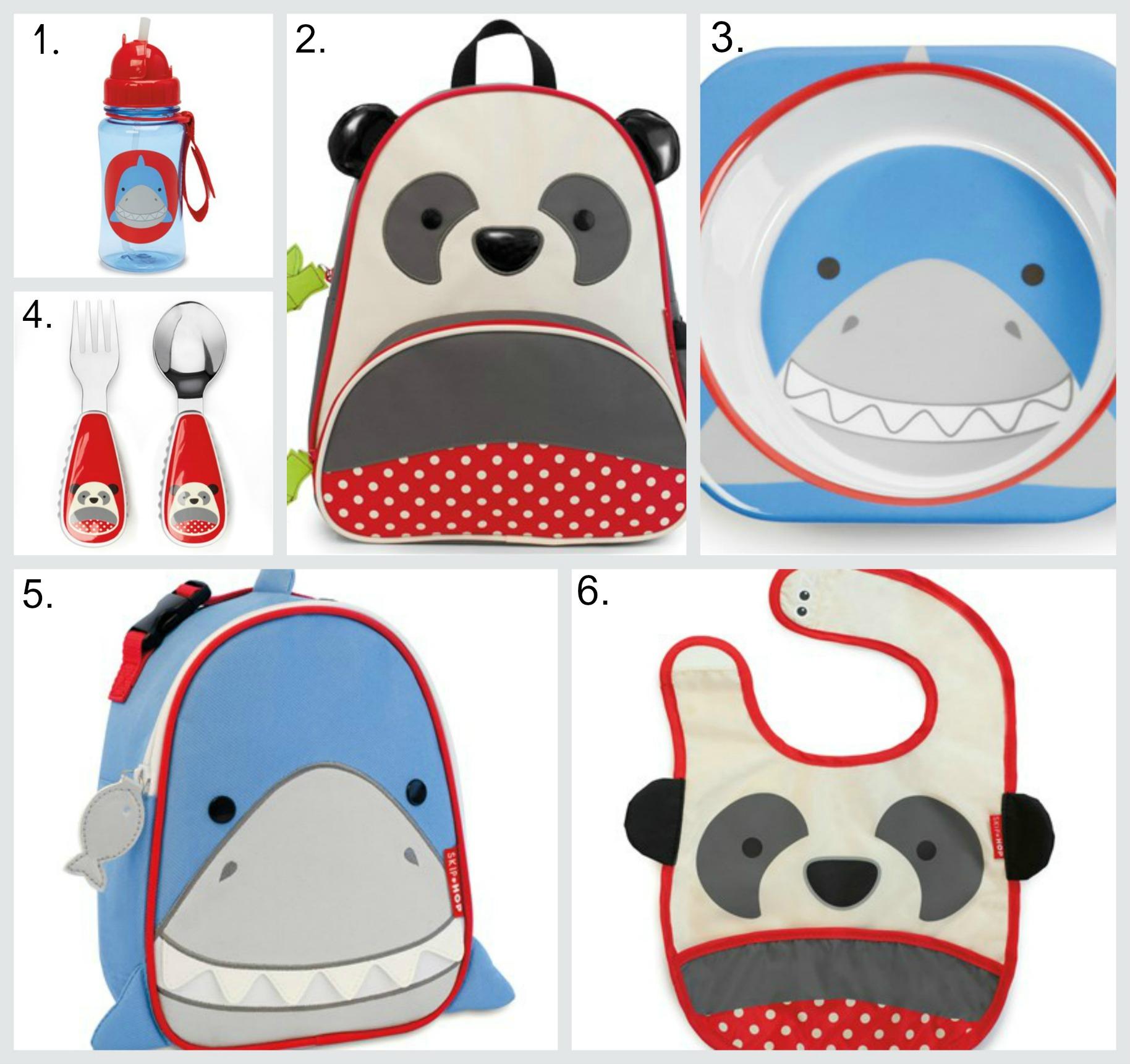 Skip Hop Zoo Collection - Shark & Panda