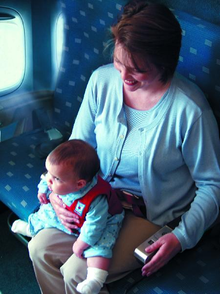 The Baby B'Air Flight Vest® is the ONLY SAFETY SOLUTION for LAP HELD BABIES who fly.