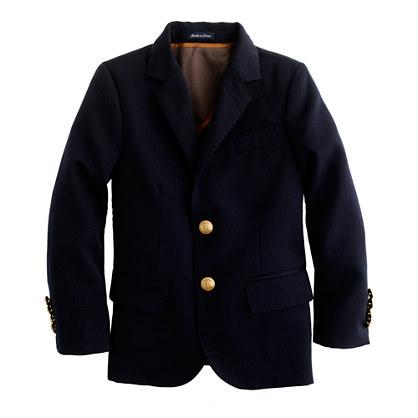 Boy's two-button wool blazer