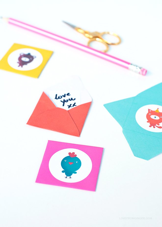 Freebie Love notes from Love From Ginger