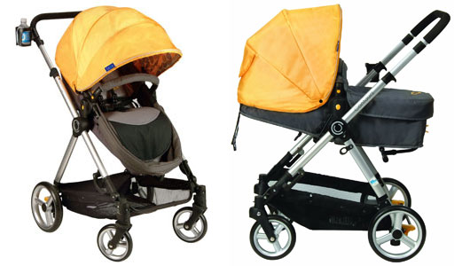 Contours Bliss Convertible Stroller - The seat turns into a bassinet.