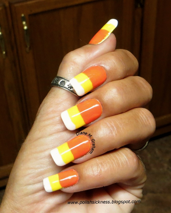 Cute Candy Corn Manicure