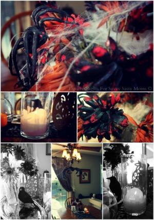 Halloween Centerpiece From Dollar Tree Collage