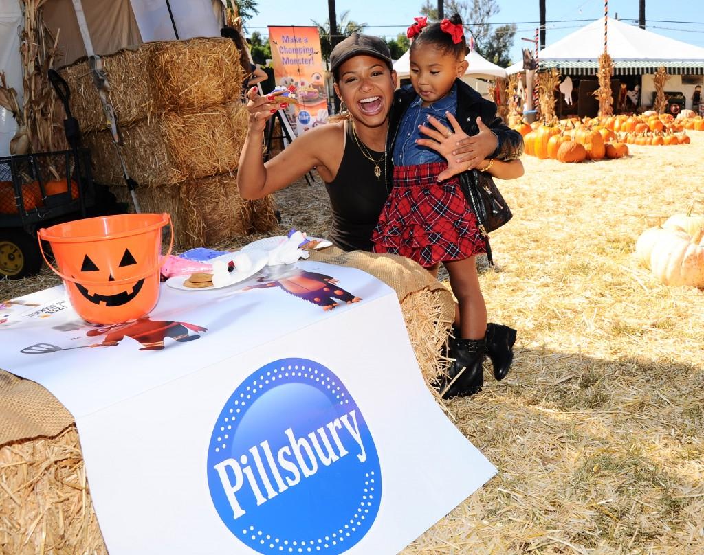 Christina Milian helps Pillsbury make Halloween sweet at Mr. Bones Pumpkin Patch