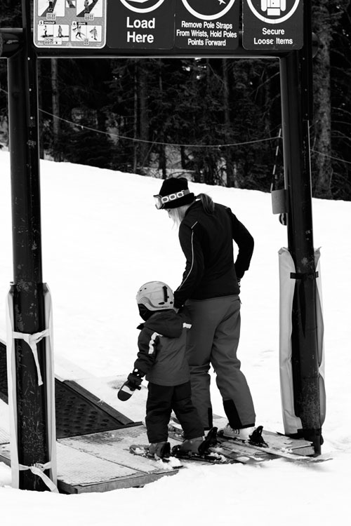 ski season with kids