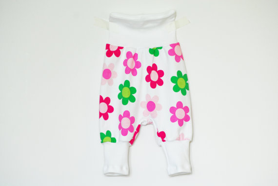 baby girls jersey trousers, etsy kids clothes