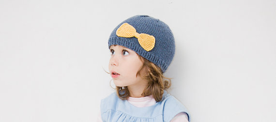 girls knit beanie