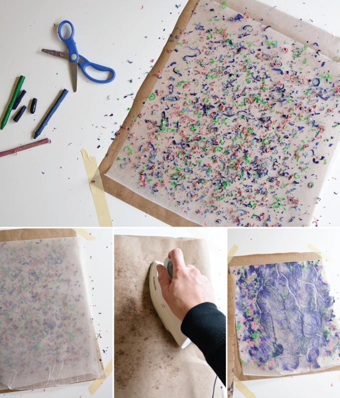 steps-for-melting-crayons-for-craft