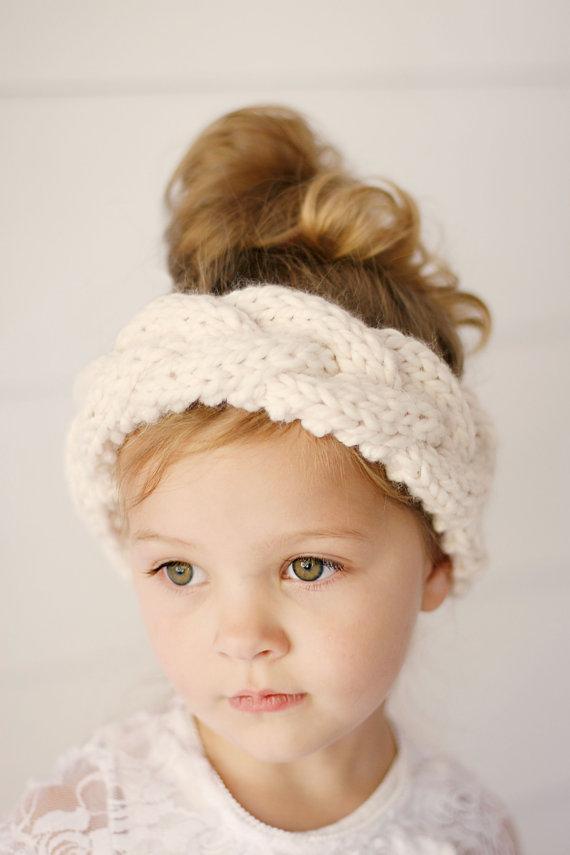 Girls Knit Braided Headband