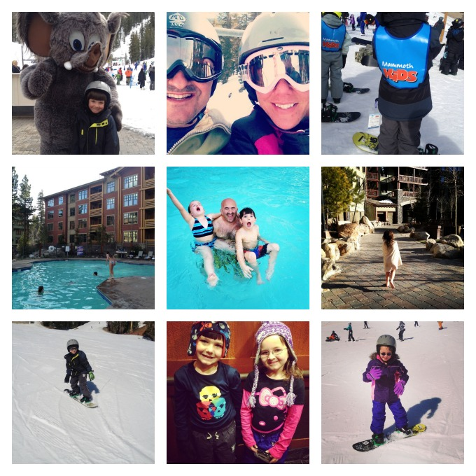 Mammoth mountain with kids