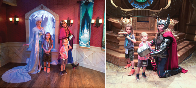 Anna and Elsa and Thor