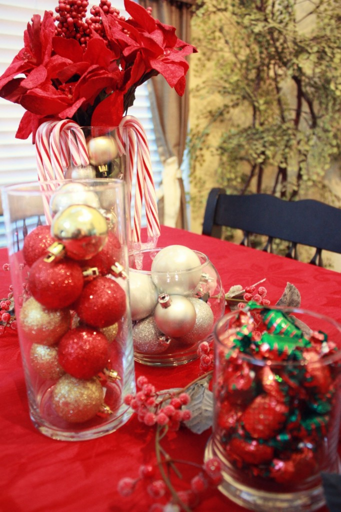 Christmas table centerpiece from the dollartree savvy