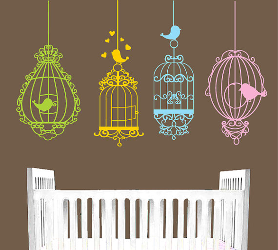 Bird cage decal