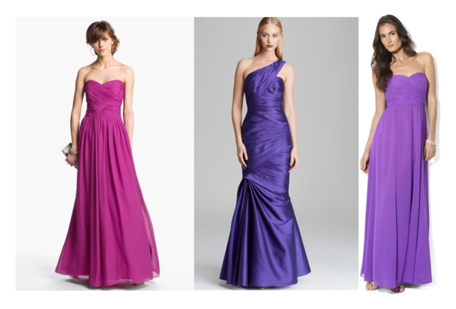 Purple Red Carpet Gowns