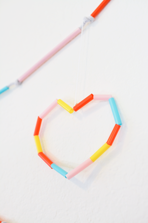 Easy wire heart craft for kids