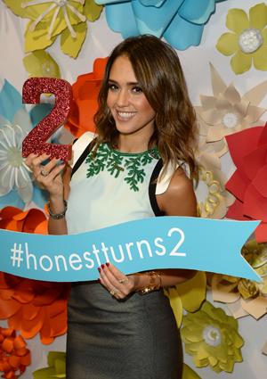 Jessica Alba celebrates Honest Company's 2nd birthday
