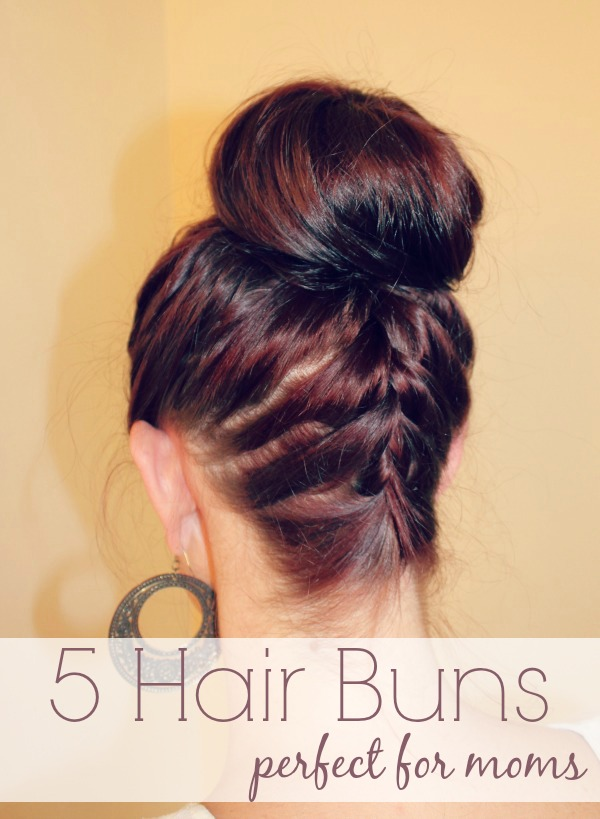 5 hair buns perfect for moms