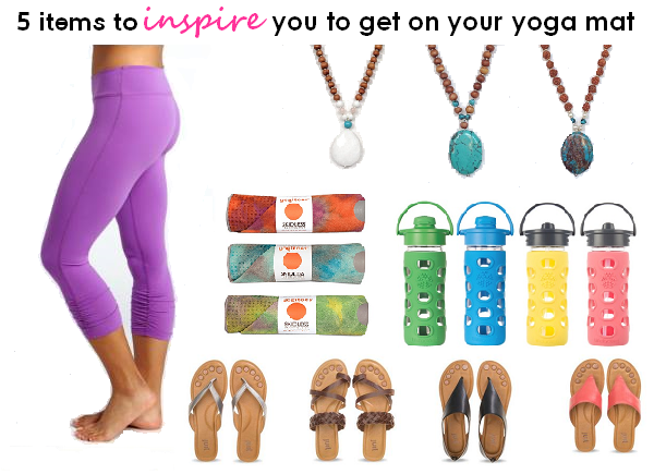 5 items to inspire you to get on your yoga mat