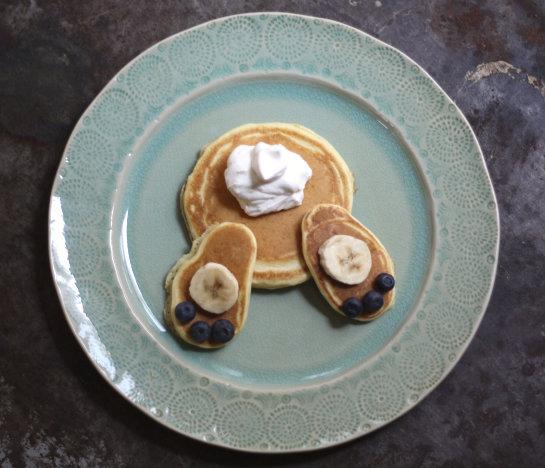 Bunny Bottom Pancakes Recipe