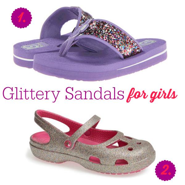 Glittery Sandals for Girls