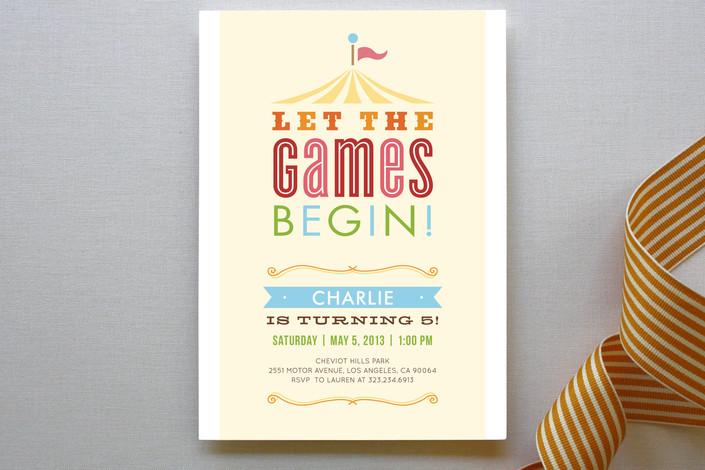 Let the Games Begin Invite