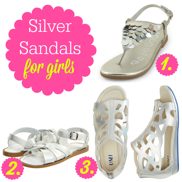 Silver Sandals for Girls