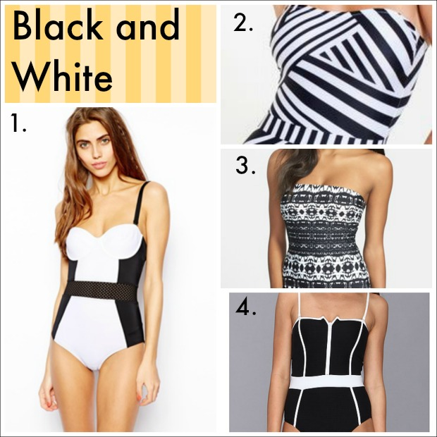 black-and-white-swimsuits