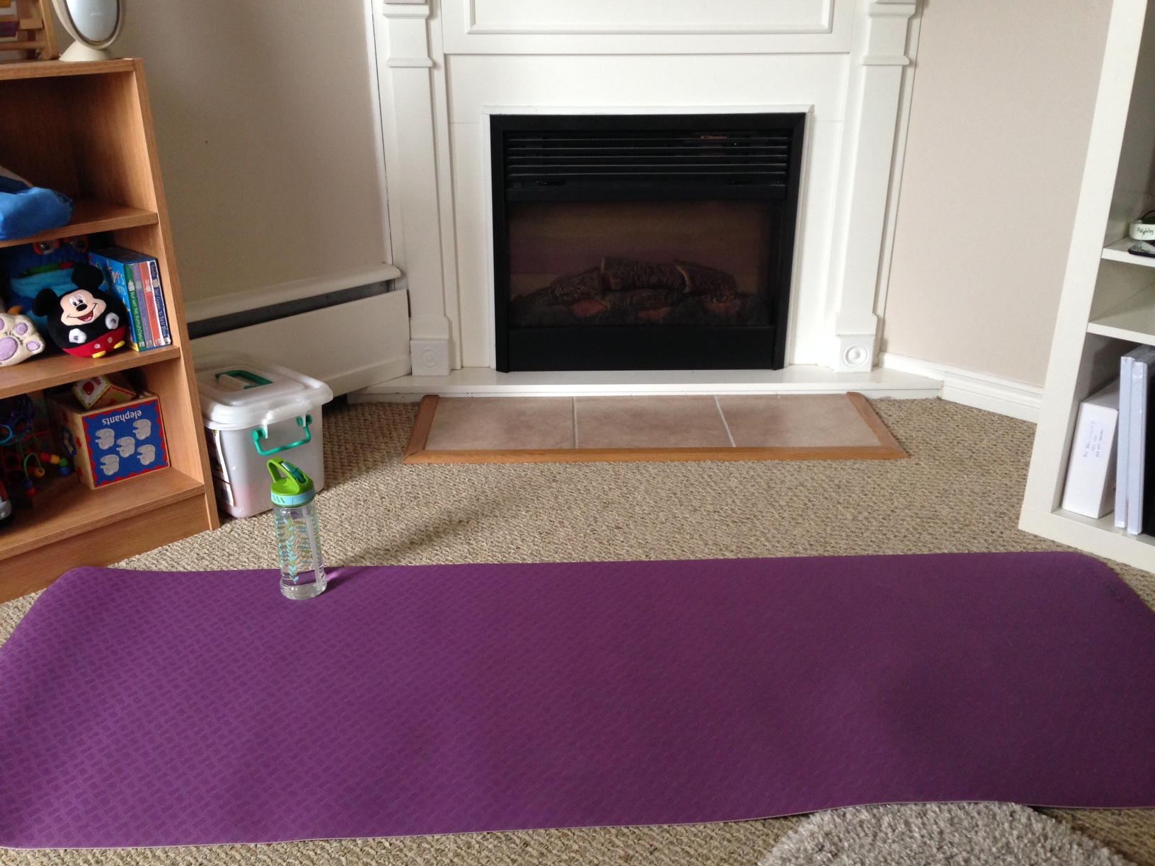Set the mood for your yoga session.