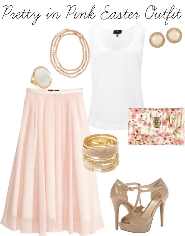 pink Easter sunday outfit