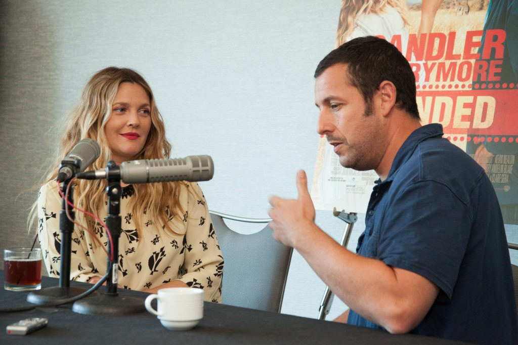 Drew Barrymore and Adam Sandler at the blogger #Blended Event