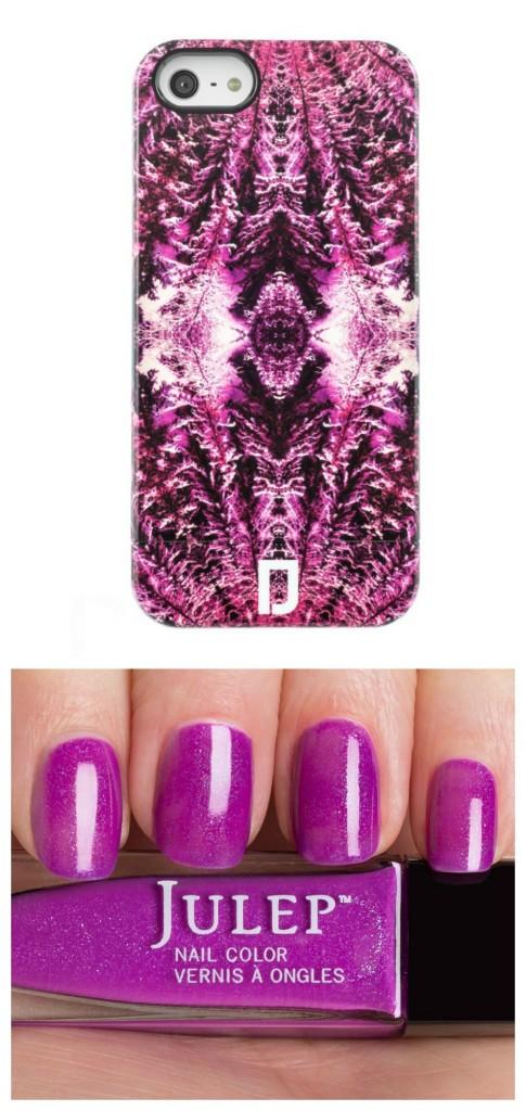 Fuscia case and nails