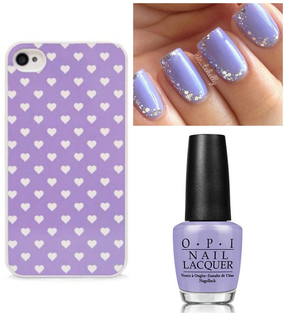 Purple nails and case