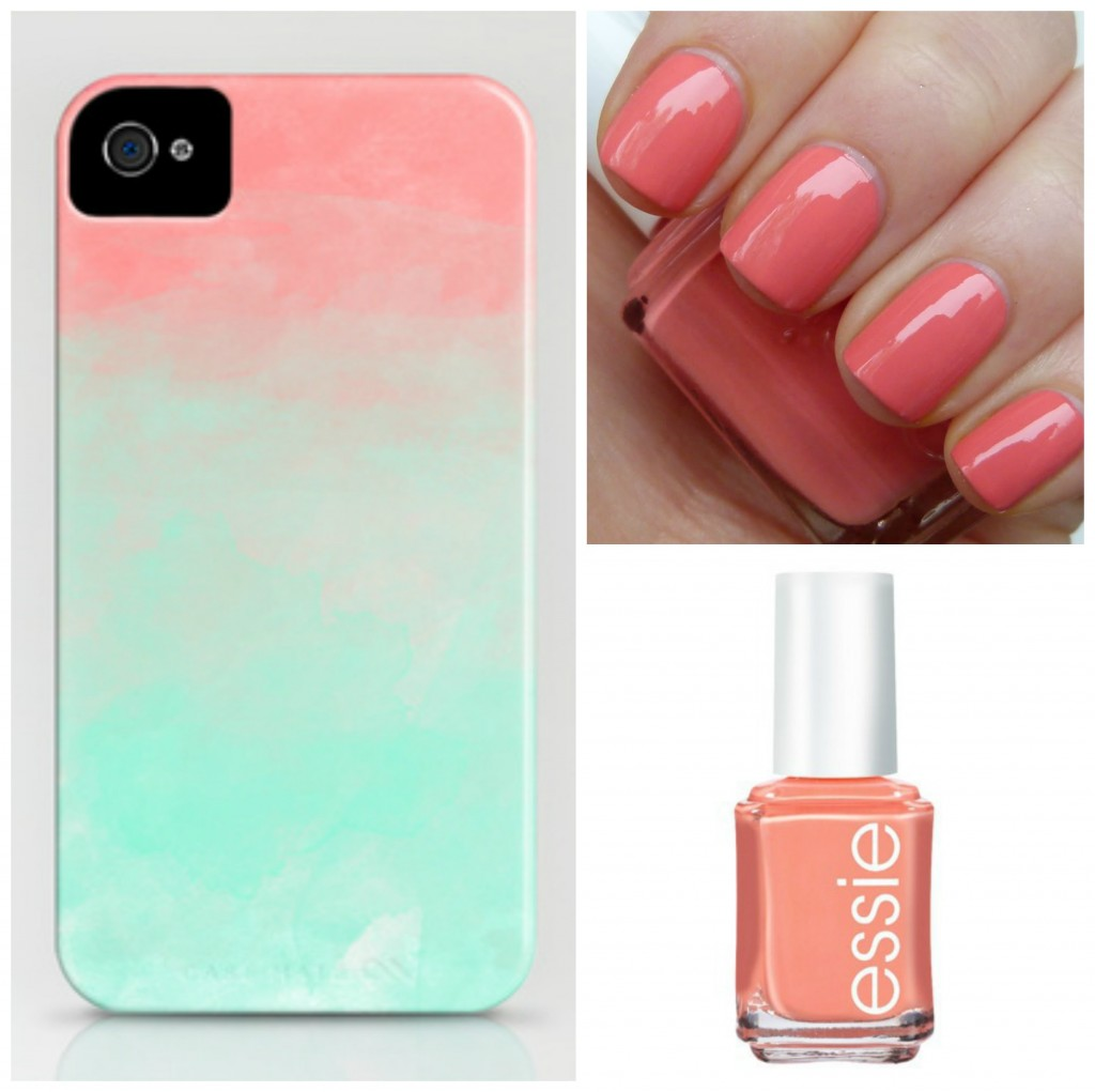 Watermelon nails and phone case