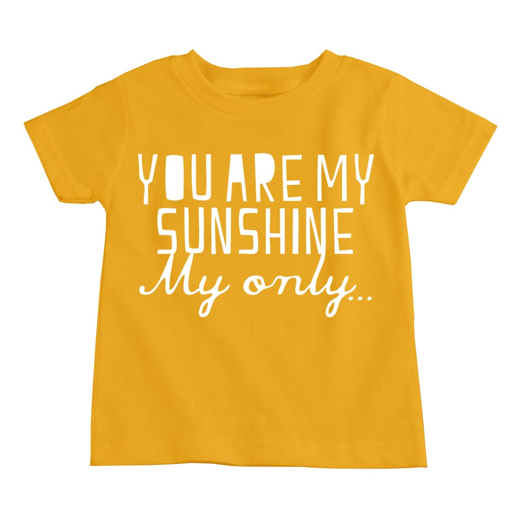 You Are My Sunshine Gold Toddler Tee