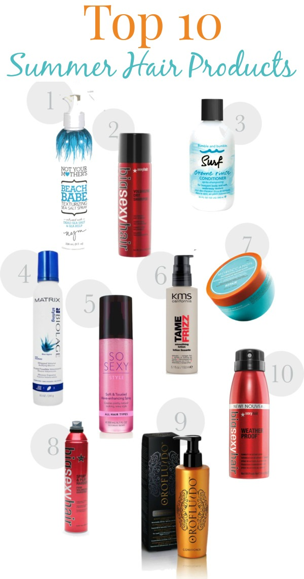 Top ten summer hair products